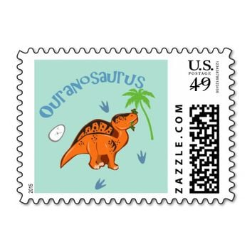 Cute Ouranosaurus Stamps