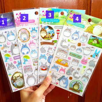 Totoro sticker, My Neighbour Totoro, Epoxy sticker, Spirited Away sticker, Totoro sticker, Puffy Totoro, Studio Ghibli, Shan Le 37 38 39 so
