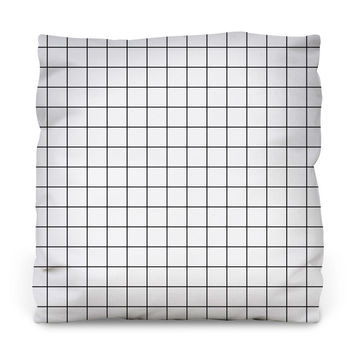 Grid Outdoor Throw Pillow