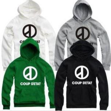 Free shipping 2015 new sale high quality bigbang G-dragon hoodies for spring/autumn/winter COUP D'ETAT printed hoodie clothing 8 color