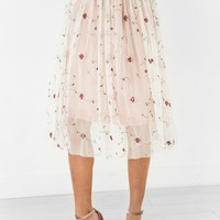 Pinstripes and Floral Tulle Skirt - JessaKae