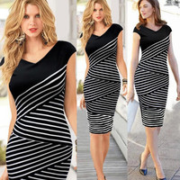 Womens Fashion Casual Dress Business Wear