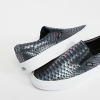 Classic Slip-On Metallic Snake Sneaker