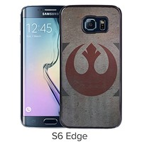 Lovely and Nice Samsung Galaxy S6 Edge Case Design with Star Wars Rebellion Black Case for Samsung Galaxy S6 Edge