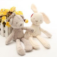 Cute Infant Baby Cartoon Rattle Soft Plush Rabbit Bear Baby Bed Stroller Hanging Bell Plush Toy Doll Funny Baby Toys Gifts