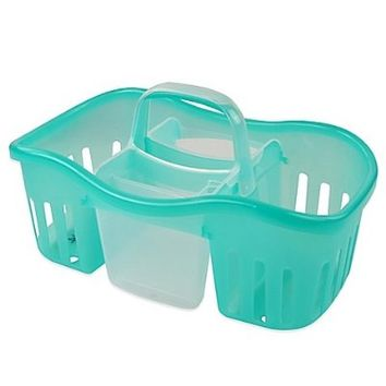 2-in-1 Interlocking Shower Caddy in Aqua