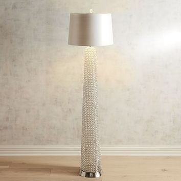 Crystal Beaded Floor Lamp
