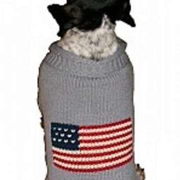 Grey Flag Dog Sweater