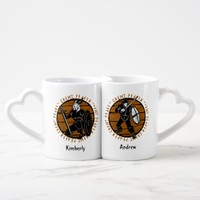 Personalized Viking Warrior Maiden His and Hers Coffee Mug Set