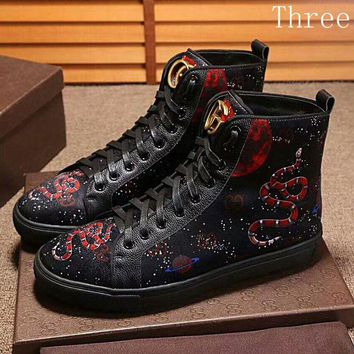 Gucci Men's and Women's Fashion Stylish Patterned Casual Shoes F