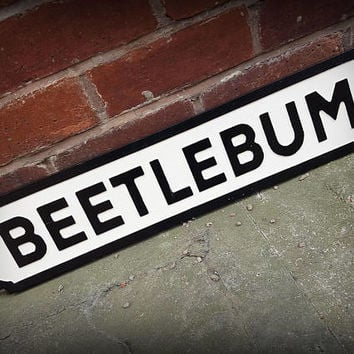 Blur Inspired Beetlebum Faux Cast Iron Street Sign