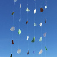 SeaGlass WindChime ~ READY to SHIP ~ Driftwood BeachGlass Wind chime for home decor gift ~ present for a beach lover, or House warming gift