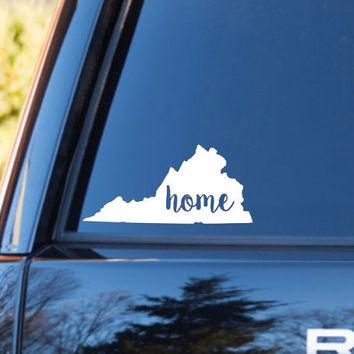 Virginia Home Decal   Virginia Decal   Homestate Decals   Love Sticker   Love Decal    Country Decal   Car Decal   Car Stickers   138