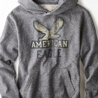 AEO Men's Vintage Graphic Hooded Pop Over