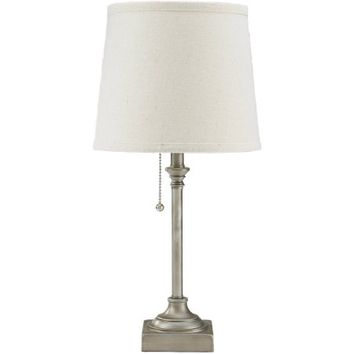 "Mainstays 19"" Pull Chain Accent Lamp, Silver Finish - Walmart.com"