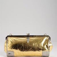 Lanvin Gold Metallic Leather Clutch - Made In France - French designers handbags : Chanel, Celine, Givenchy  and more - Modnique.com