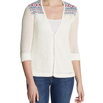 Women's Beachside Cardigan Sweater - Pattern | Eddie Bauer