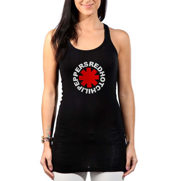 Red Hot Chili Peppers Red Womens Tank Top *