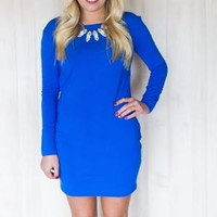 Piko Fitted Tunic Royal Blue