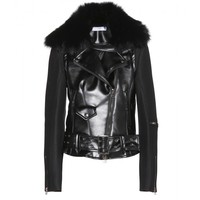 altuzarra - broadway perfecto jacket with fur collar
