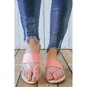 Sunshine State Sandals - Light Coral