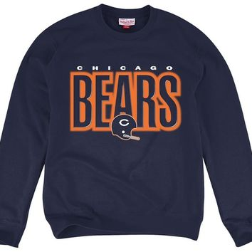 Chicago Bears Blank Fleece Crew Neck Fleece Sweatshirt