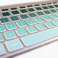 Mac Keyboard Stickers Green Ombre Decal