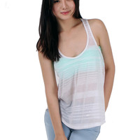 Sleeveless Striped Racerback Knit Top