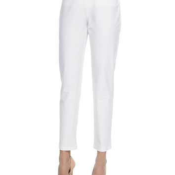 Washable Crepe Slim Ankle Pants,