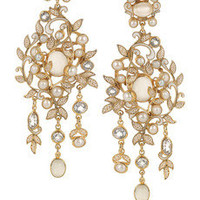 Percossi Papi|Gold-plated topaz, moonstone and pearl earrings|NET-A-PORTER.COM