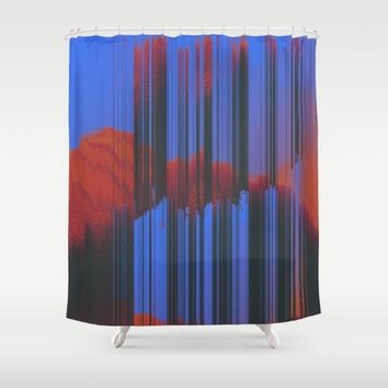Sunset Melodic Shower Curtain by DuckyB