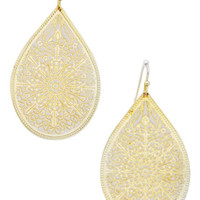 Tear Drop Gold Hippie Earrings