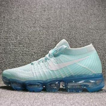 Best Deal Online 2018 Nike Air Max VaporMax Flyknit Men Women Running Shoes Blue