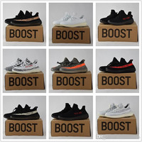 2017 Adidas Originals Yeezy 350 Boost V2 Beluga Sply-350 Black White Black Peach Men Women Running Shoes Kanye West Yezzy Boost 350 With Box