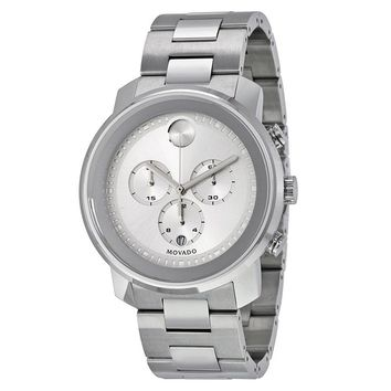 Movado Bold Silver Dial Stainless Steel Case and Band Mens Quartz Watch 3600276