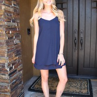 Navy Slip Dress