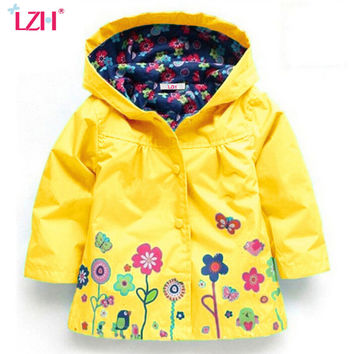 LZH 2017 Spring Autumn Girls Jacket For Girls Windbreaker Boys Jacket Kids Raincoat Coat Outerwear Children Jacket Girls Clothes