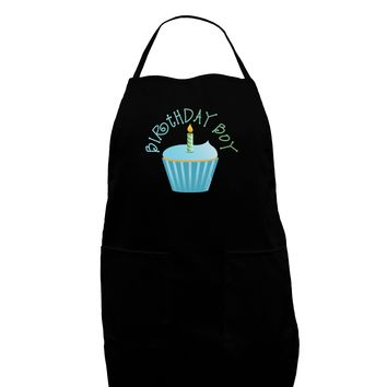 Birthday Boy - Candle Cupcake Dark Adult Apron by TooLoud