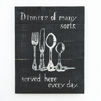 Dinner of many sorts sign