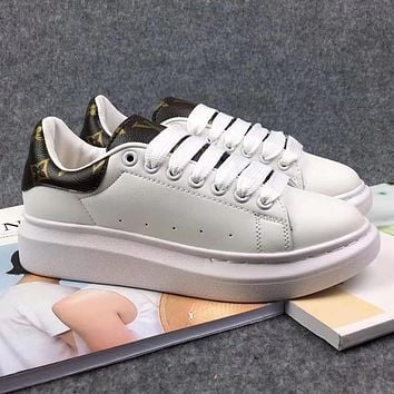 Supreme x LV Louis Vuitton Woman Men Fashion Old Skool Sneakers Sport Shoes