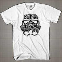 Star Wars Face Graphic  Mens and Women T-Shirt Available Color Black And White