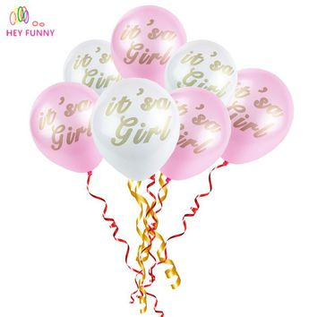 HEY FUNNY 10pcs/lot It's a girl Balloon Kid's toy Birthday Wedding Baby Shower Pool Party Decor Bachelor Hen Party Decoration