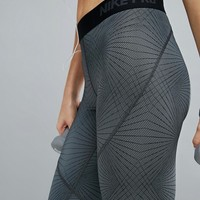 Nike Linear Printed Leggings In Grey at asos.com