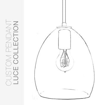 Custom Design Your Hand Blown Glass Pendant Light