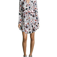 A.L.C. The Way Floral-Print Dress, Pink English Floral