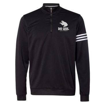 The Adidas 'Do Less' French Terry Pullover Jacket in Black