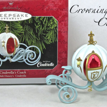 Hallmark Cinderella's Coach Ornament Disney Cinderella Princess Pumpkin Carriage MIB RARE