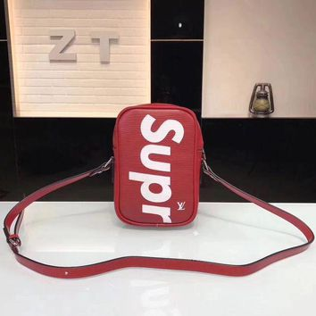 DCCK6HW Louis Vutitton LV×Supreme' Fashion Logo Letter Small Square Bag Single Shoulder Messenger Bag