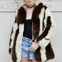 Worlds Softest Striped Vintage Oversized Fur Coat – BACKBITE