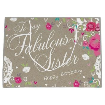 Fabulous Sister Large Gift Bag